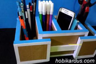 tempat pensil dari kardus bekas bisa diperlebar