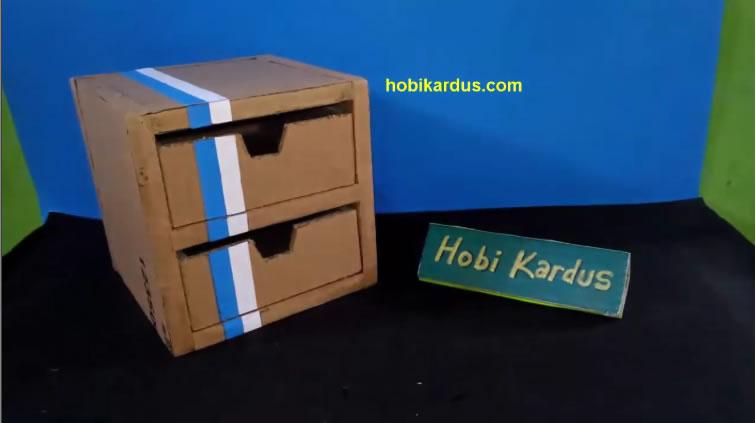 Cara Membuat Laci Dari Kardus Rak Kotak Mini Hobi Kardus
