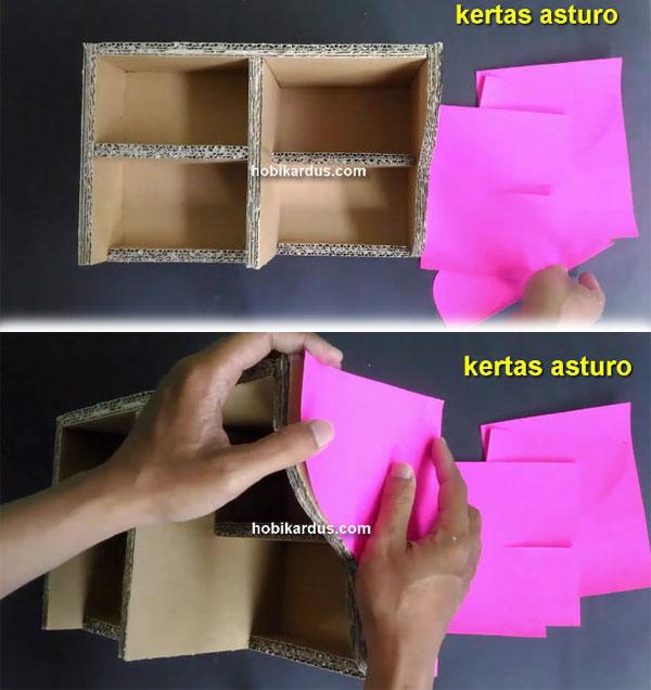 potongan kertas asturo tempat make up